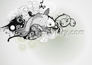 Silver-fish-pvc-wallpaper-wallcoverings-for-hotel-S1-00067