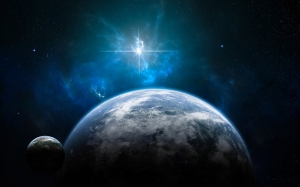 Space_Planets_and_a_shining_star_023329_