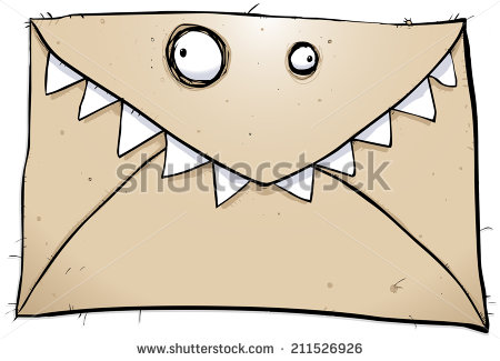 stock-photo-crazy-monster-cartoon-character-letter-sent-in-the-mail-211526926