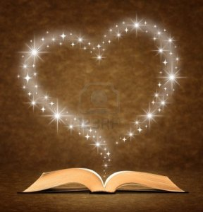 9686183-open-old-book-a-star-heart-graphic-at-the-top-of-the-book