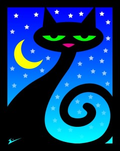 eric_schranz_black_cat_under_a_yellow_moon